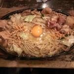 35265959 - 焼ラーメン・牛モツ(&勝手に地鳥・ナンコツ・つくね)トッピング(2015/2)