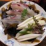 なか井 - 天然鯛・天然新若芽・岩津葱のしゃぶしゃぶ