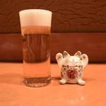 酒とそば まるき - 生ビール(小)