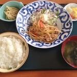 堀かわ - 料理写真:日替り定食(豚生姜焼き)(500円)