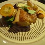 ウッドプロ - 鶏肉と金柑のお料理