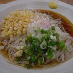 豊国製麺所 - 名物いかさし麺 温泉卵ぶっかけ(@390円)