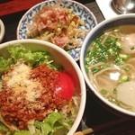 黒うさぎ - ランチ。ミニ沖縄料理セット。