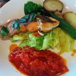 cafe 膳 八起 - 【週末ランチ】真鯛のトマトソース添え