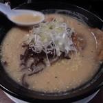 炭炙りチャーシュー まる麺 - ゆず胡椒ラーメン820円