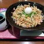 なごみ - 桜エビの花天ぶっかけ(930円)