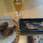 鶏専門店 食彩 Ks Har - 新鮮地鶏のたたきと若鶏の唐揚げ