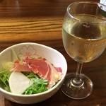 西口酒店 - ハモンセラーノの生ハム+白ワイン(プレミアム) ※第7回ガシバルより 2015年2月