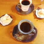 茶房郷 - コーヒーに手作りのかき餅が付いてました♪