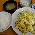 お智代食堂 - 海老マヨ定食 1