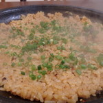 韓国石鍋 ハコイチ - 肉と野菜の旨みが出た後に残ったタレで〆の焼き飯とても美味しい頂きました!うまかった(^^)