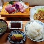 末広 - 料理写真:おまかせ定食 1200円 + 大盛 100円
