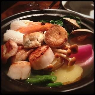 ル ブルターニュ バー ア シードル レストラン - 魚介のブイヤベース?  ここ全部美味しかったぁ♡( ᵕ̤ૢᴗᵕ̤ૢ )♡