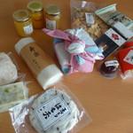 浪芳庵 - お正月のセット(右上の商品) はちみつと蒲鉾は別の店舗
