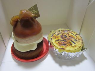 御献上カスティーラ 東通店 - マロンタルトとミルクチーズケーキ