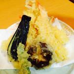 回転寿し 旬楽 - エビ天ぷら盛り
