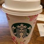 スターバックス・コーヒー - ドリップコーヒー(ディカフェ、ショート)@280 桜のカップがかわいい♡