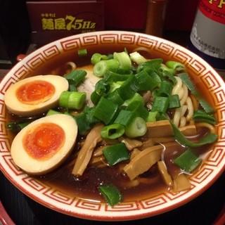 麺屋7.5Hz 新橋店 - ラーメン中盛り、味玉
