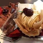 パティスリー シュクレ - 生チョコショートと和栗のモンブラン