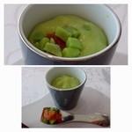 35304064 - 空豆には添えられた野菜を入れていただきますが、いいお味ですね。