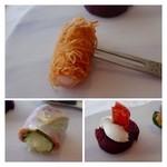 35304085 - どれも美味しいですけれど「天使の海老カダイフ巻(写真上)」が食感もよく好みです。