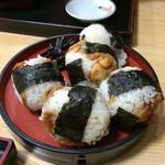 お食事処柊 - 料理写真:柊めいぶつ天むすび