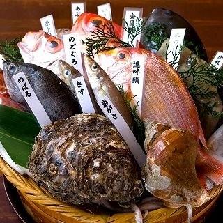 飲放題付宴会4000円〜季節の鮮魚焼きしゃぶコースが一番人気
