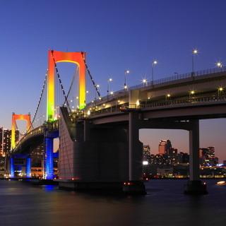 絶景!東京湾お台場エリアの夜景♪陸からは見る事ができません。