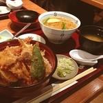 天ぷら 左膳 - 天丼セットに蕎麦つけましたー