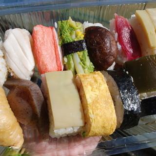 磯ずし - 料理写真:田舎寿司 13種類