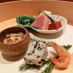 割烹 山部 - 前菜(旬彩御膳)