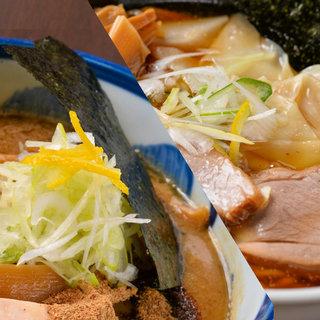 濃厚なこってりスープ&香り立つすっきり煮干し