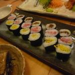 寿司勝 - 干瓢巻、お新香巻、ネギトロ巻