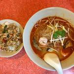 タイ・ベトナム料理の店 アジアの味 - バアッカパオ+トムヤンクンラーメン903円+税