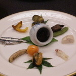 割烹の宿 美鈴 - 山海の珍味の前菜