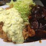 みょうが屋 - 宮崎で最も美味い刀根鶏のチキン南蛮、最強ドミソースのハンバーグ