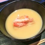 じき 宮ざわ - 海老芋ずわい蟹お椀
