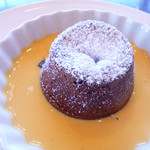 船明荘 - 温かいチョコレートケーキ
