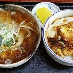 山香食堂 - カツ丼セット 900円