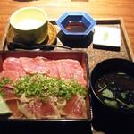 35320937 - 「松阪牛レアステーキ&まぐろ炙り」の、お重