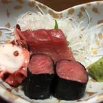 五味八珍 - 150223 刺身(鶏すきコース)
