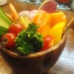 隠れ家ダイニングCu-Suke - バーニャカウダのお野菜