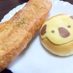サンマロン - ガーリックフランス180円とコアラちゃん160円 ちょっと金額怪しいです(^^)