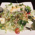 牛タン専門店 NAGARE - サラダ(とろろ・豆腐トッピング)