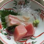 スカイツリー ビュー レストラン&バー 簾 - 三の重 向付 鮪 鯛