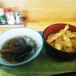 立食処 大滝 - 料理写真:日替わり定食 (天丼・ミニそば)