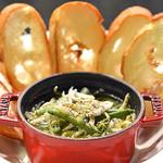 南あわじ美食農園オリザ - いかなごと山菜のアヒージョ