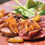 南あわじ美食農園オリザ - 淡路産鹿肉のステーキ 柑橘のソース