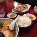 東京まんぷくラーメン - 手打ち醤油&餃子定食