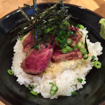 こいけ屋 - 2015/2/24和牛ステーキ鉄火丼400円